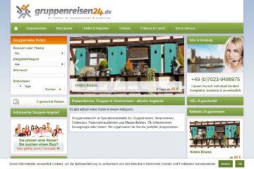 Gruppenreisen24.de Screenshot
