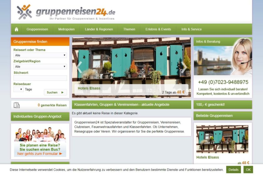 Gruppenreisen24.de Screenshot