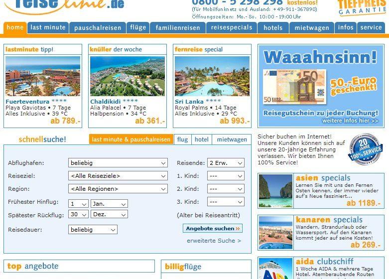 Reiselinie.de Screenshot