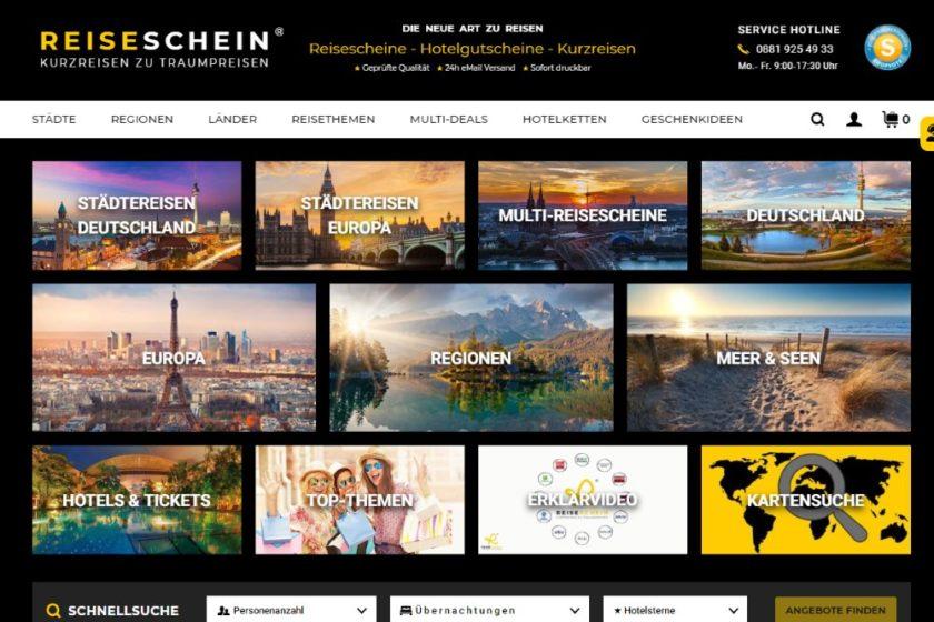 Reiseschein.de Screenshot